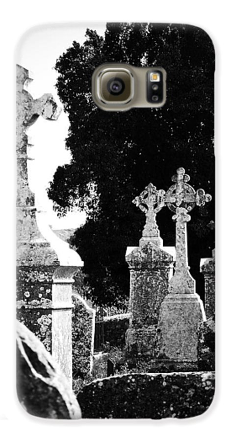 Celtic Galaxy S6 Case featuring the photograph Celtic Crosses At Fuerty Cemetery Roscommon Ireland by Teresa Mucha
