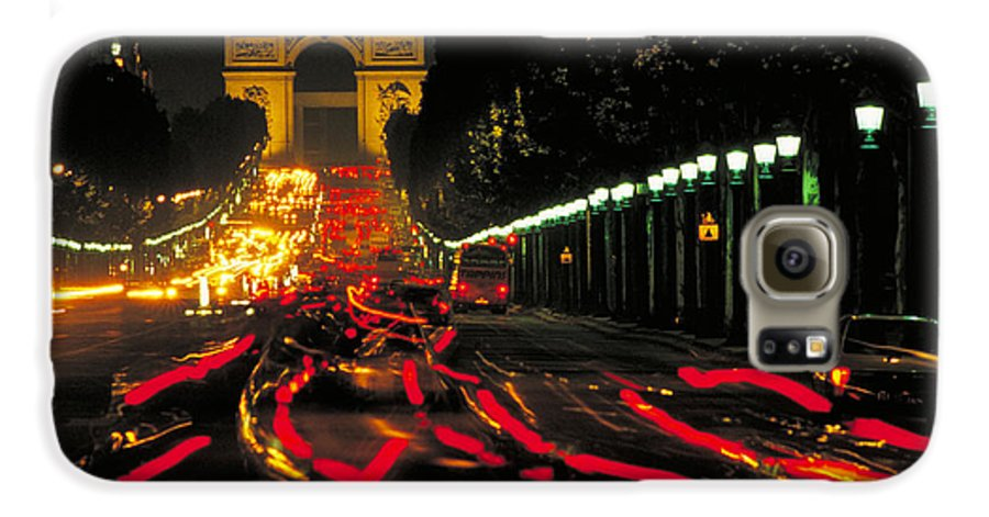 France Galaxy S6 Case featuring the photograph Champs Elysee In Paris by Carl Purcell