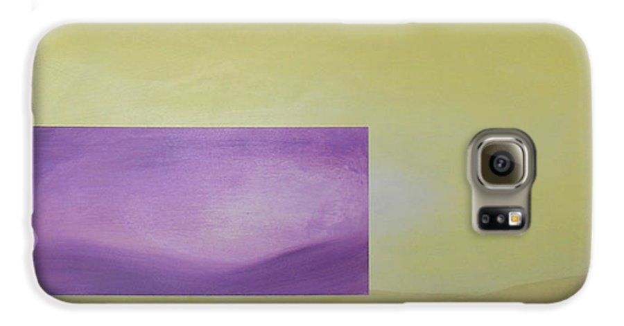 Abstract Galaxy S6 Case featuring the painting Change by Bojana Randall