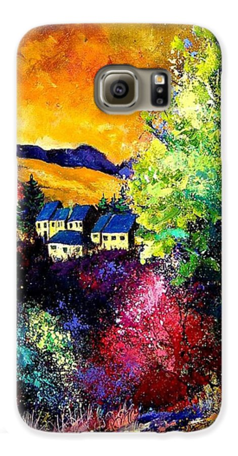 Landscape Galaxy S6 Case featuring the painting Charnoy by Pol Ledent