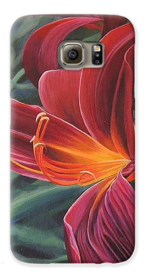 Lily Near Cheesman Park Galaxy S6 Case featuring the painting Chase The Sun by Hunter Jay