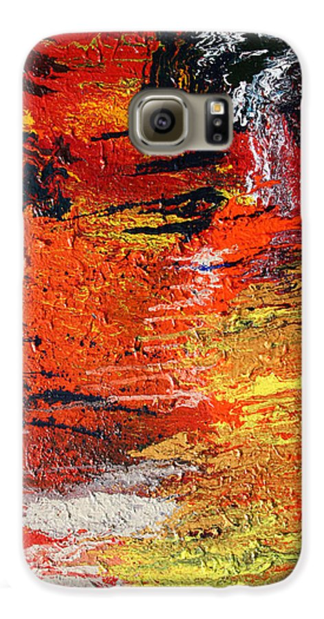 Fusionart Galaxy S6 Case featuring the painting Chasm by Ralph White
