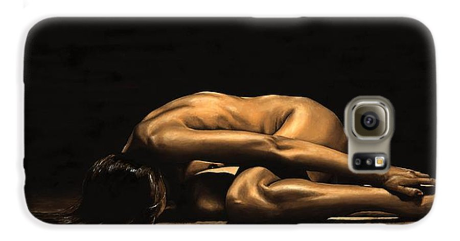 Nude Galaxy S6 Case featuring the painting Chastity by Richard Young