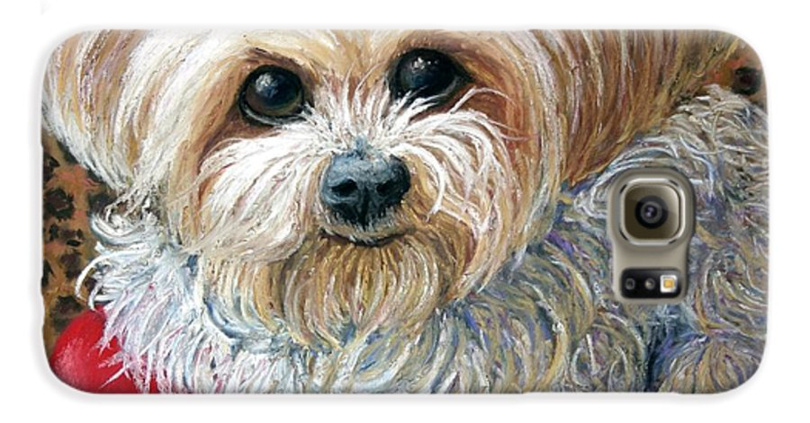 Dog Galaxy S6 Case featuring the painting My Friend by Minaz Jantz