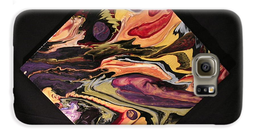 Abstract Galaxy S6 Case featuring the painting Cherish The Day by Patrick Mock