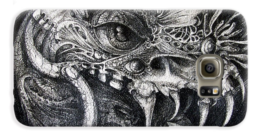 Galaxy S6 Case featuring the drawing Cherubim Of Beasties by Otto Rapp
