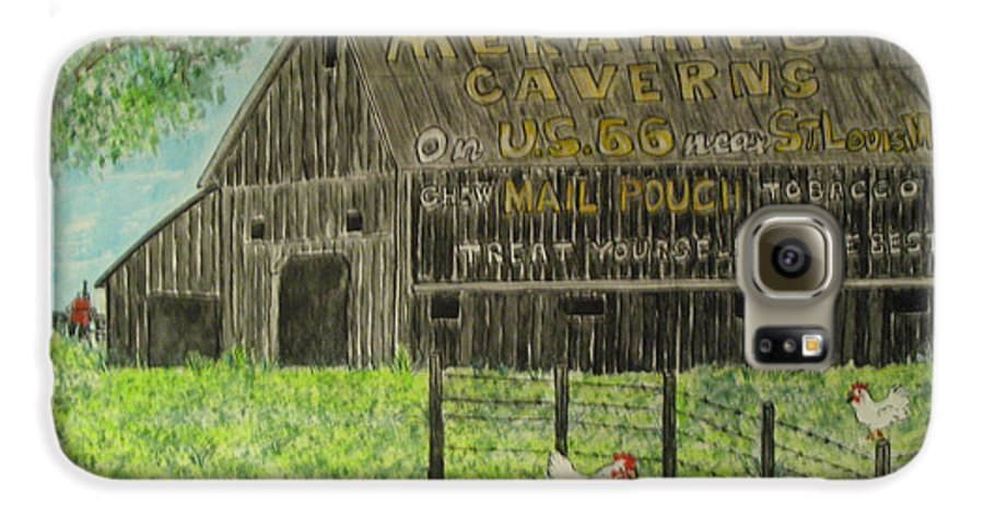 Chew Mail Pouch Galaxy S6 Case featuring the painting Chew Mail Pouch Barn by Kathy Marrs Chandler