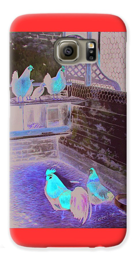 Far Galaxy S6 Case featuring the painting Chicken Coop by Ferrel Cordle