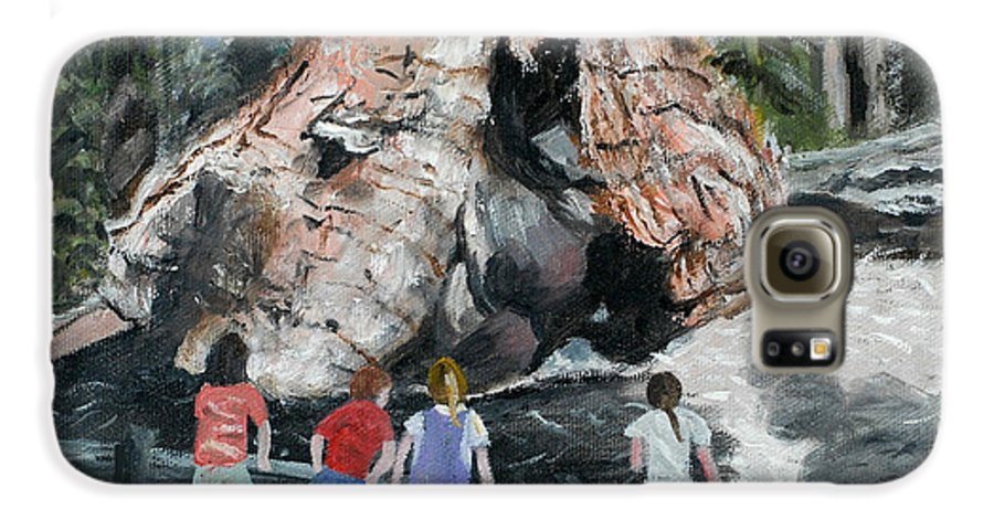 Children Galaxy S6 Case featuring the painting Children At Sequoia National Park by Quwatha Valentine