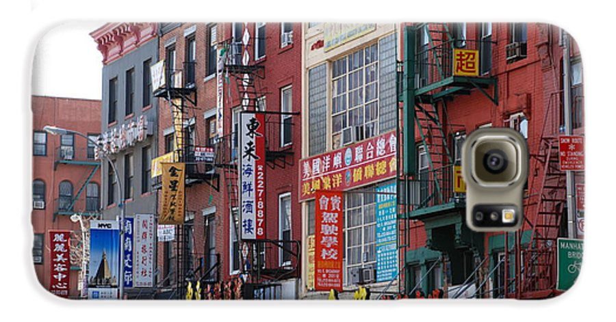 Architecture Galaxy S6 Case featuring the photograph China Town Buildings by Rob Hans