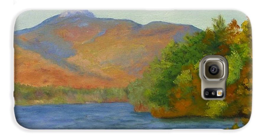 Mount Chocorua And Chocorua Lake Galaxy S6 Case featuring the painting Chocorua by Sharon E Allen