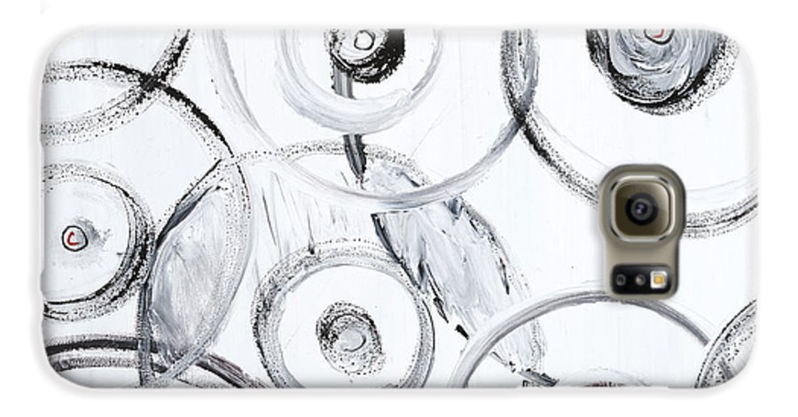 Circles Galaxy S6 Case featuring the painting Choices In White by Nadine Rippelmeyer