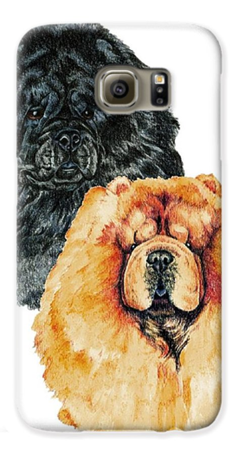 Chow Chow Galaxy S6 Case featuring the painting Chow Chows by Kathleen Sepulveda