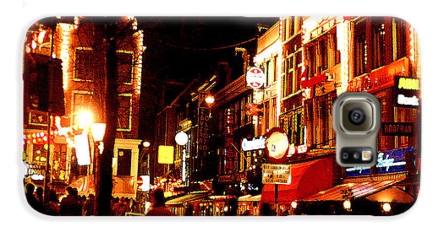 Night Galaxy S6 Case featuring the photograph Christmas In Amsterdam by Nancy Mueller