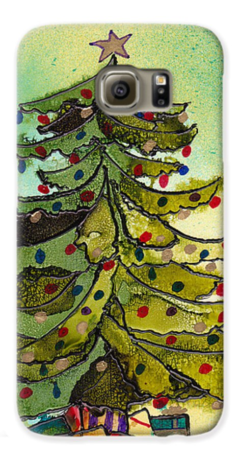 Christmas Galaxy S6 Case featuring the painting Christmas Morning 2008 by Susan Kubes