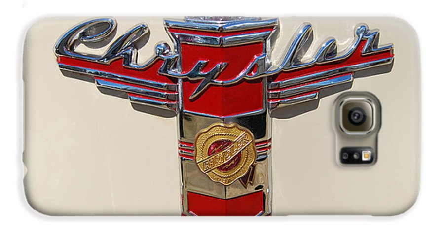 Automobile Galaxy S6 Case featuring the photograph Chrysler Hood Logo by Larry Keahey