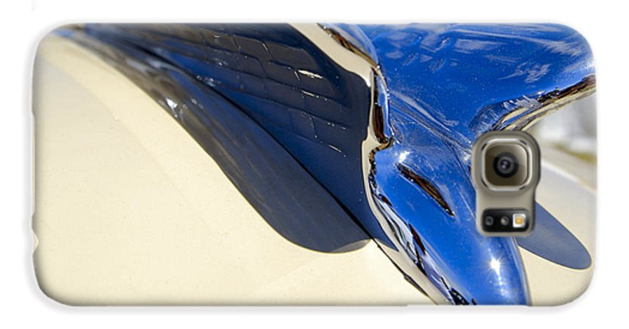 Chrysler Galaxy S6 Case featuring the photograph Chrysler New Yorker Deluxe Hood Ornament by Larry Keahey
