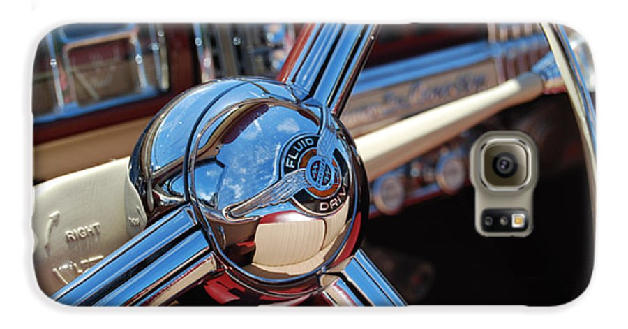 Classics Galaxy S6 Case featuring the photograph Chrysler Town And Country Steering Wheel by Larry Keahey