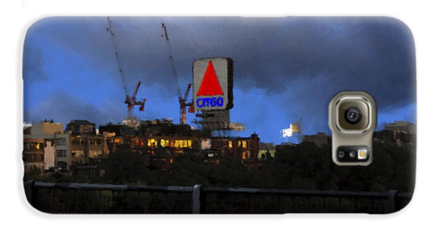 Citgo Sign Galaxy S6 Case featuring the digital art Citgo Sign by Edward Cardini