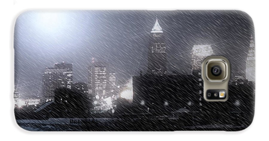 Cleveland Galaxy S6 Case featuring the photograph City Bathed In Winter by Kenneth Krolikowski