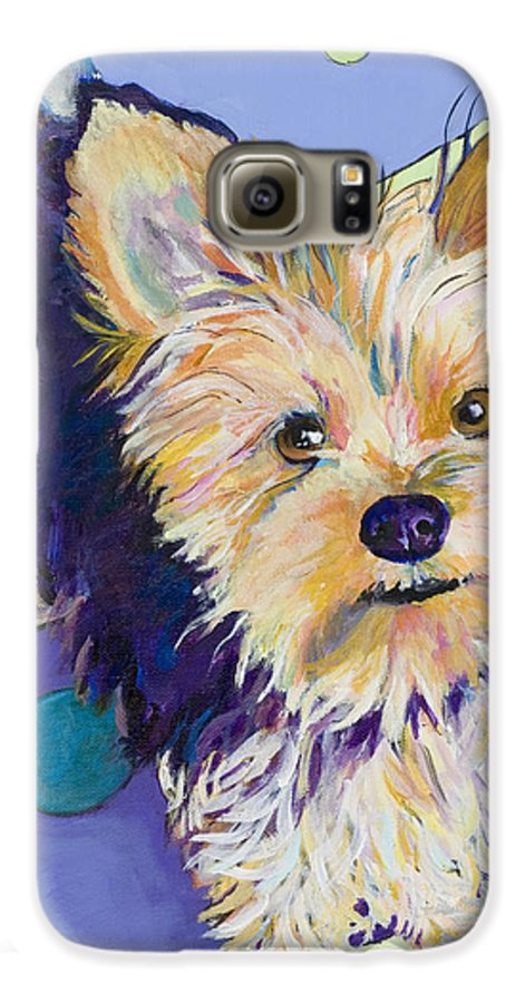 Pet Portraits Galaxy S6 Case featuring the painting Claire by Pat Saunders-White