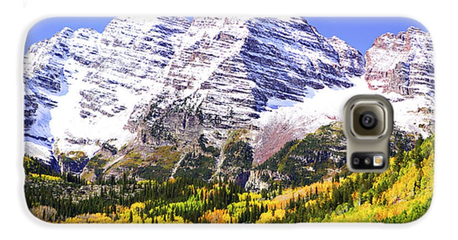 Americana Galaxy S6 Case featuring the photograph Classic Maroon Bells by Marilyn Hunt