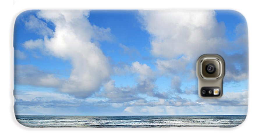 Ocean Galaxy S6 Case featuring the photograph Clouds At Play by Larry Keahey