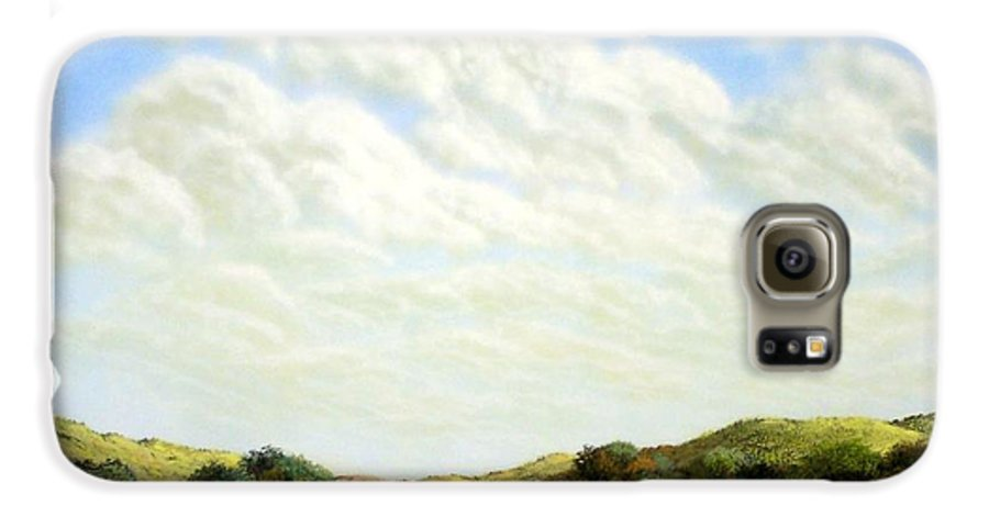 Landscape Galaxy S6 Case featuring the painting Clouds Of Spring by Frank Wilson