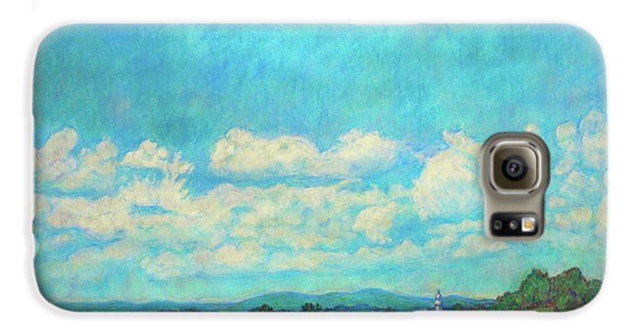 Landscape Galaxy S6 Case featuring the painting Clouds Over Fairlawn by Kendall Kessler
