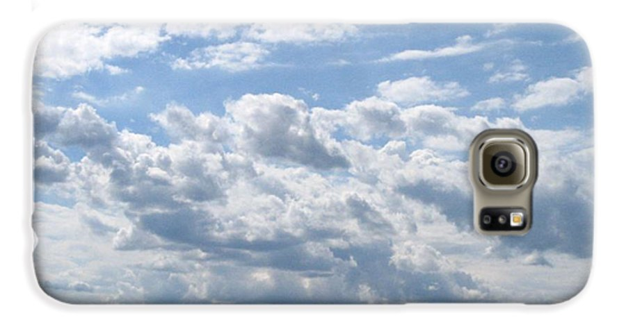 Clouds Galaxy S6 Case featuring the photograph Cloudy by Rhonda Barrett