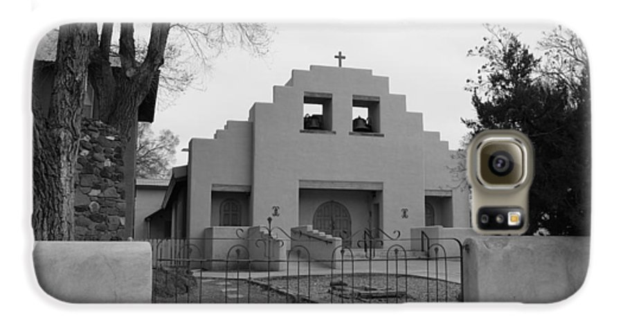Architecture Galaxy S6 Case featuring the photograph Cochiti Church by Rob Hans