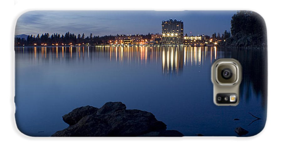 Skyline Galaxy S6 Case featuring the photograph Coeur D Alene Skyline Night by Idaho Scenic Images Linda Lantzy