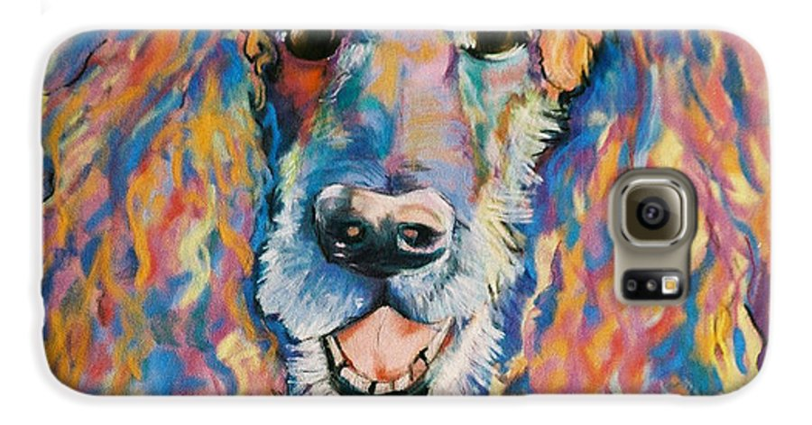 Standard Poodle Galaxy S6 Case featuring the painting Cole by Pat Saunders-White