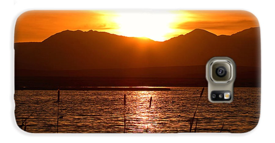 Colorado Galaxy S6 Case featuring the photograph Colorado Marsh At Sunset by Max Allen