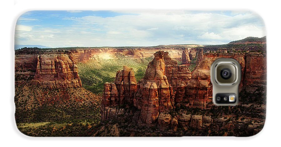 Americana Galaxy S6 Case featuring the photograph Colorado National Monument by Marilyn Hunt