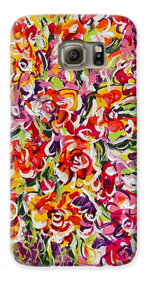 Framed Prints Galaxy S6 Case featuring the painting Colorful Organza by Natalie Holland