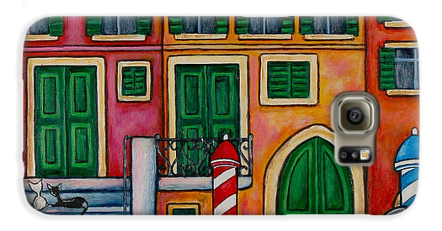 Venice Galaxy S6 Case featuring the painting Colours Of Venice by Lisa Lorenz