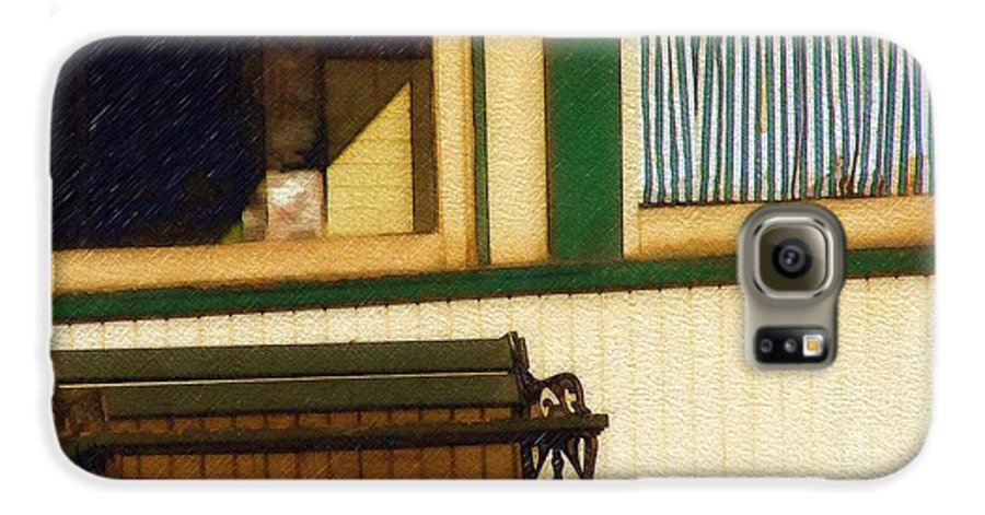 Bench Galaxy S6 Case featuring the photograph Come Sit A Spell by Sandy MacGowan