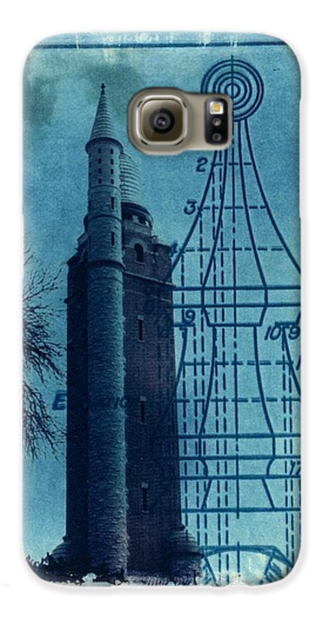 Alternative Process Photography Galaxy S6 Case featuring the photograph Compton Blueprint by Jane Linders