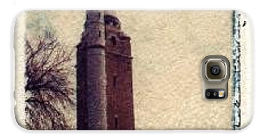 Polaroid Transfer Galaxy S6 Case featuring the photograph Compton Water Tower by Jane Linders