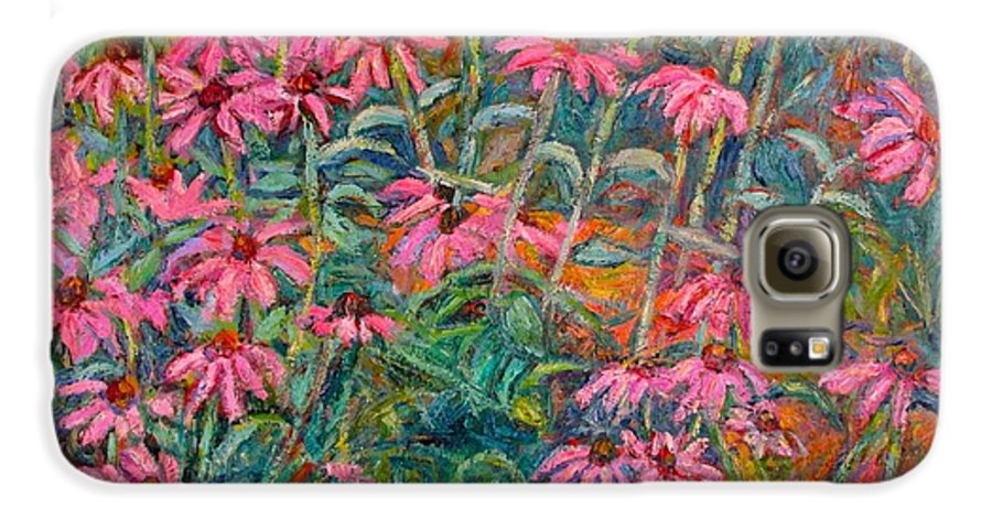 Kendall Kessler Galaxy S6 Case featuring the painting Coneflowers by Kendall Kessler