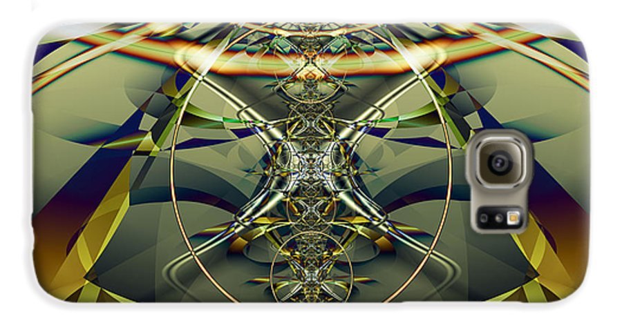 Fractal Galaxy S6 Case featuring the digital art Construction Rings by Frederic Durville