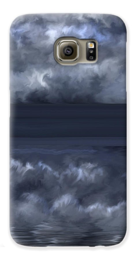 Seascape Galaxy S6 Case featuring the painting Convergence Zone by Anne Norskog