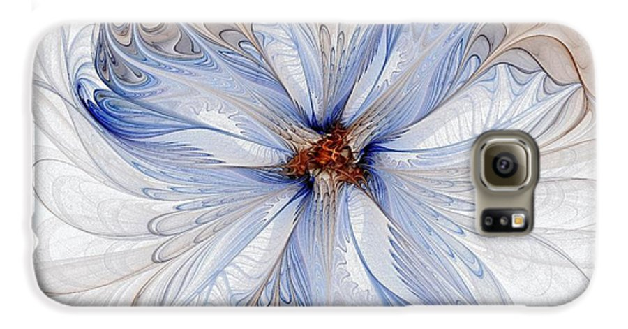 Digital Art Galaxy S6 Case featuring the digital art Cornflower Blues by Amanda Moore