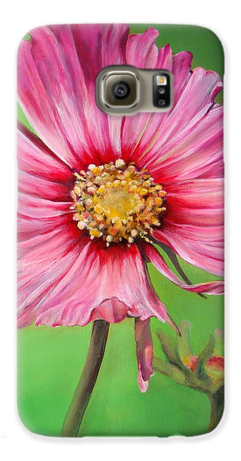 Floral Painting Galaxy S6 Case featuring the painting Cosmos by Dolemieux muriel