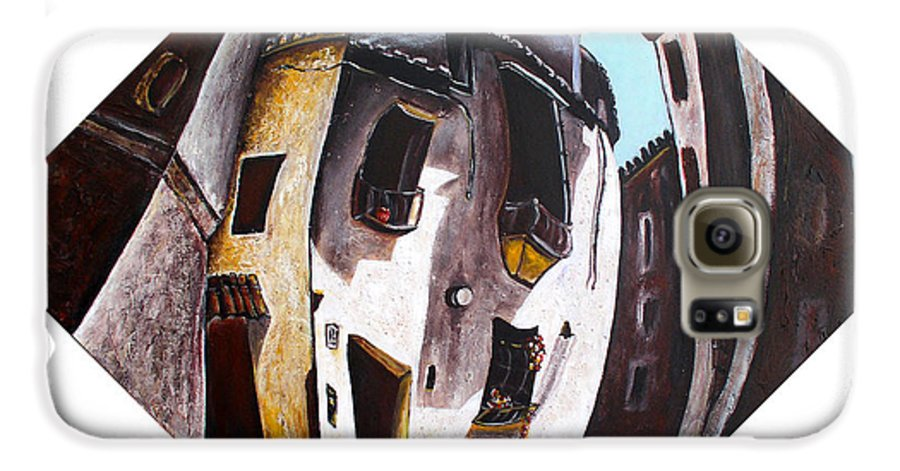 City Scape Galaxy S6 Case featuring the painting Costa Del Sol by Olga Alexeeva