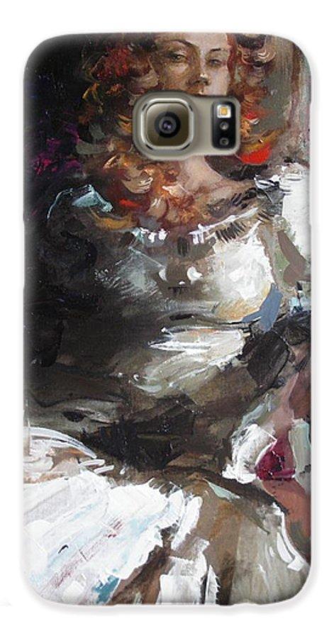 Ignatenko Galaxy S6 Case featuring the painting Countess by Sergey Ignatenko