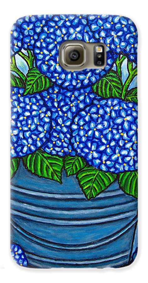 Blue Galaxy S6 Case featuring the painting Country Blues by Lisa Lorenz