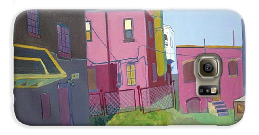Alleyway Galaxy S6 Case featuring the painting Courtyard View by Debra Bretton Robinson