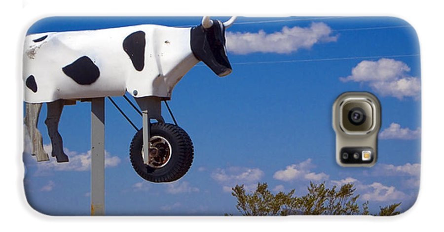 Cow Galaxy S6 Case featuring the photograph Cow Power by Skip Hunt